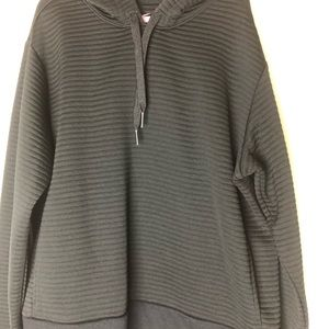 Nike Ribbed Hoodie Jacket XS Coat Hood Black